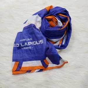 Ted Lapidus 100% Cotton Oversized Square Scarf